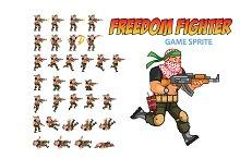 Freedom Fighter Game Sprite