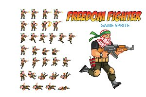 Freedom Fighter Game Sprite