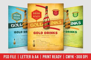 Gold Drinks Flyer