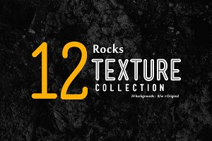 24 Rocks Texture backgrounds B/W