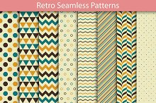 Set of Retro Seamless Patterns