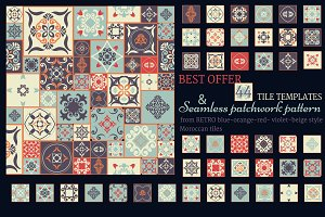 Collection of 44 Tiles & Patterns