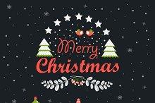 Santa Clauses with Christmas tree