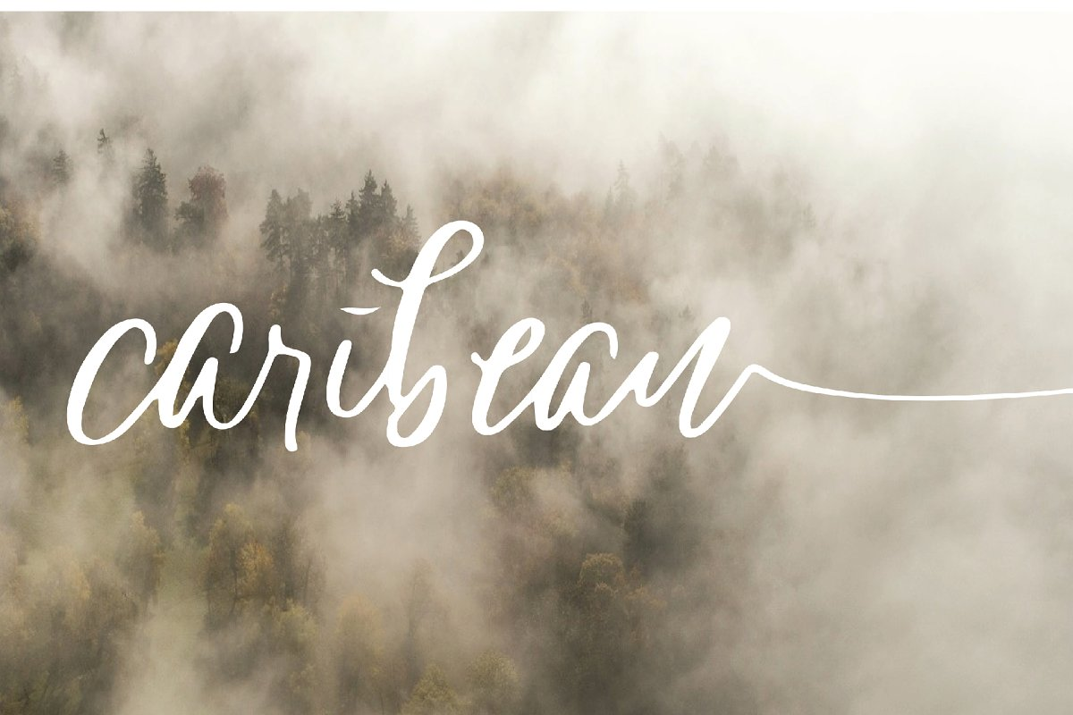 caribean font in Script Fonts - product preview 1