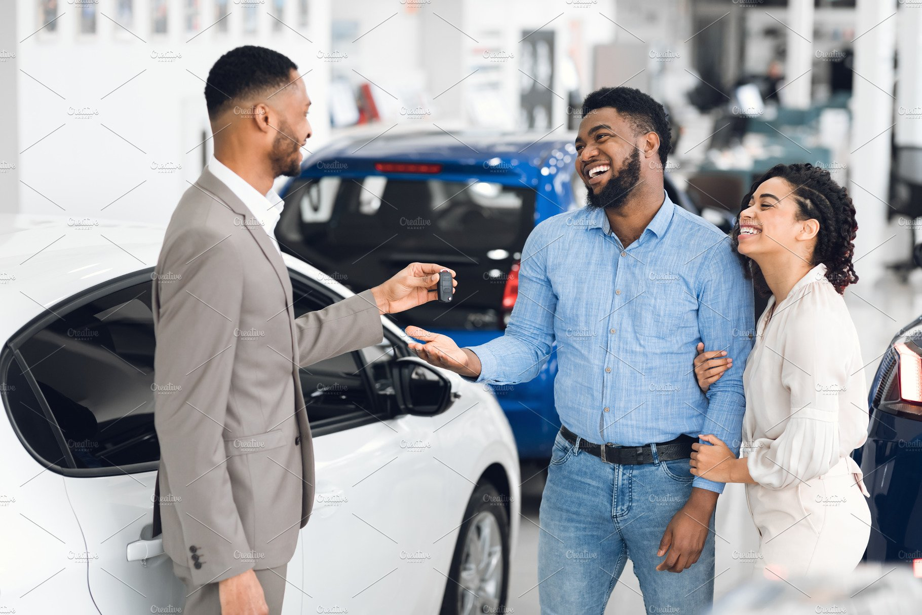 Couple Buying Car Taking Key From Sa   High-Quality Stock Photos ~ Creative  Market