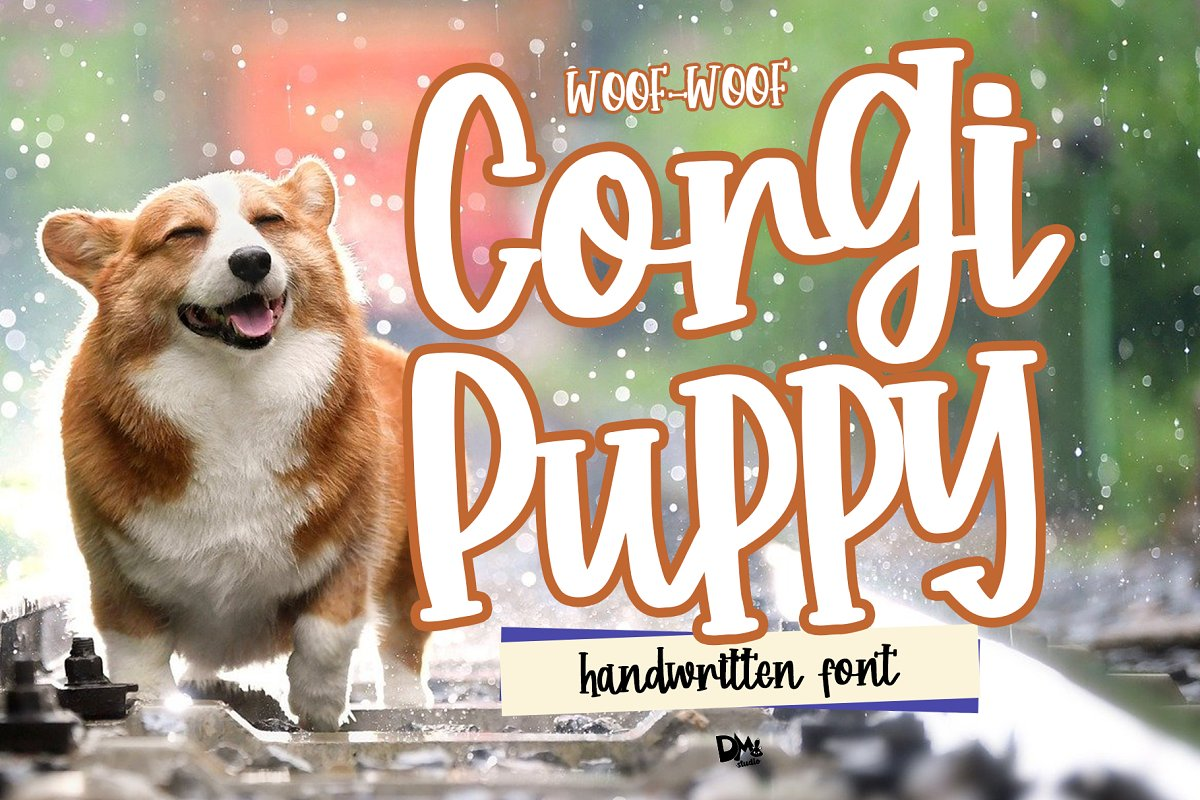 Corgy Puppy - Handwritten Font