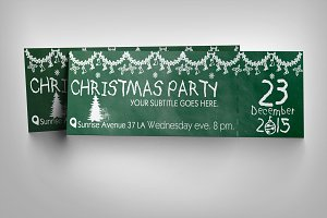 Chalkboard Christmas ticket