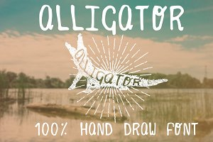 Alligator Hand Draw Font