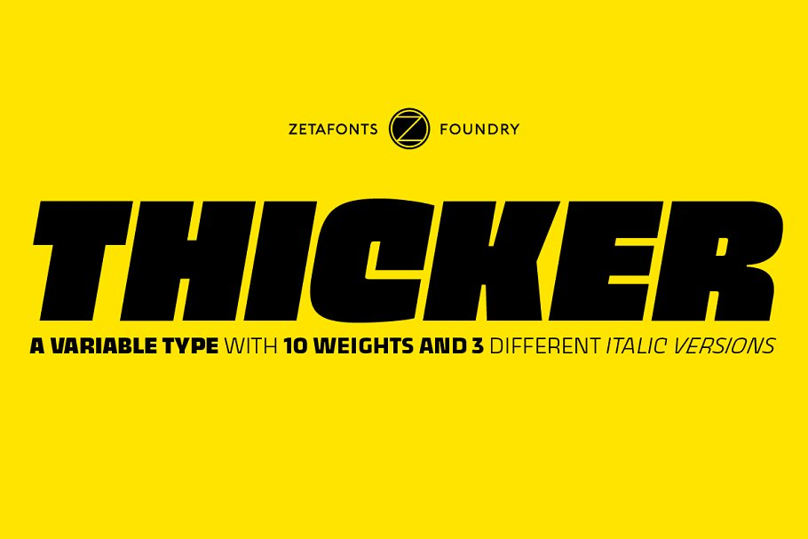 Thicker 44 fonts + 2 variables