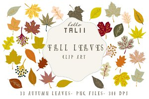 Fall Leaves Clip Art