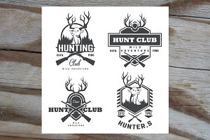 Set of vintage hunting