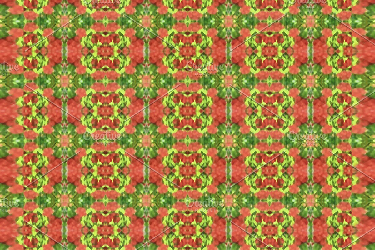Colorful Geoemtric Folk Seamless Mos
