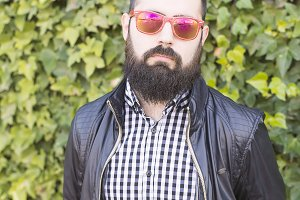 Man with a beard and sunglass