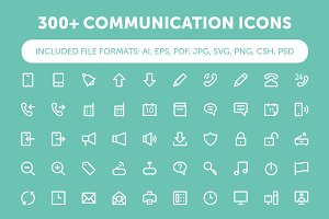 300+ Communication Icons Set