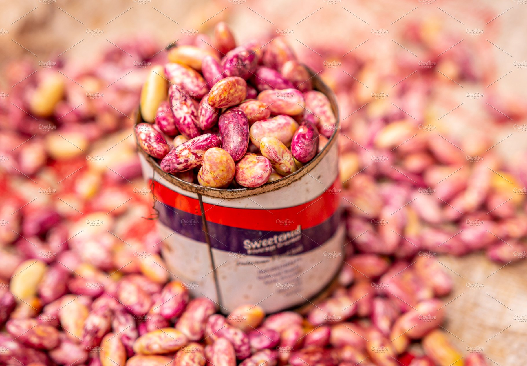 Red Kidney Beans In Tin Can Local High Quality Food Images Creative Market