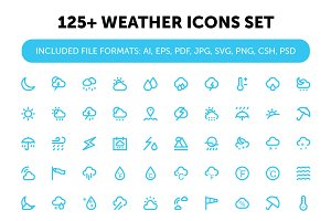 125+ Weather Icons Set