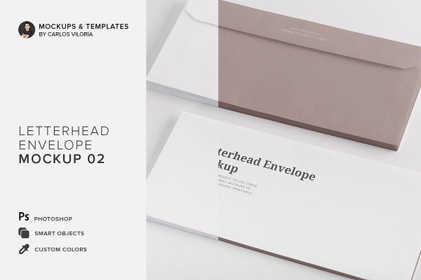 Letterhead Envelope Mockup 02