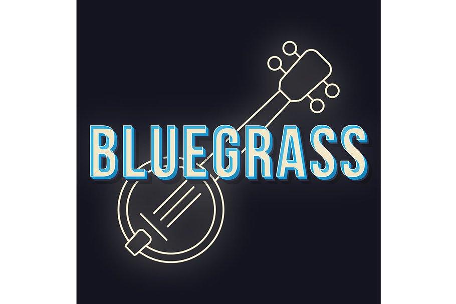 Bluegrass vintage 3d lettering