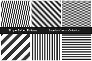 Striped seamless patterns.