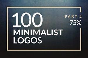 100 Minimalistic Logos Part 2