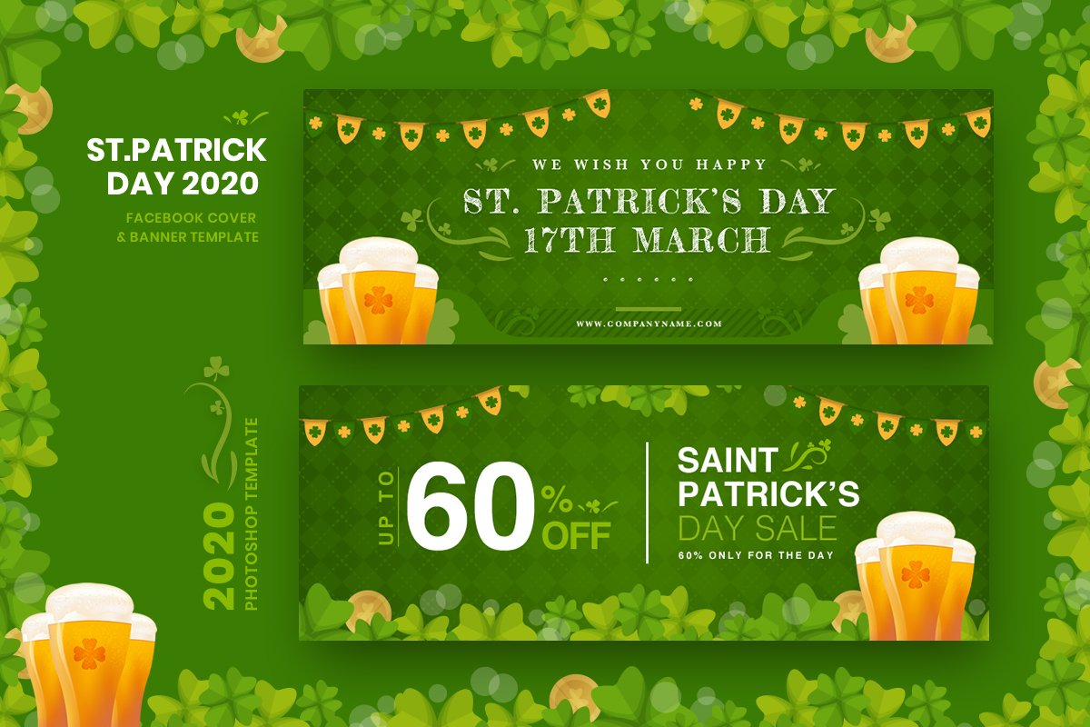 ST. Patrick Day FB Cover & Banner
