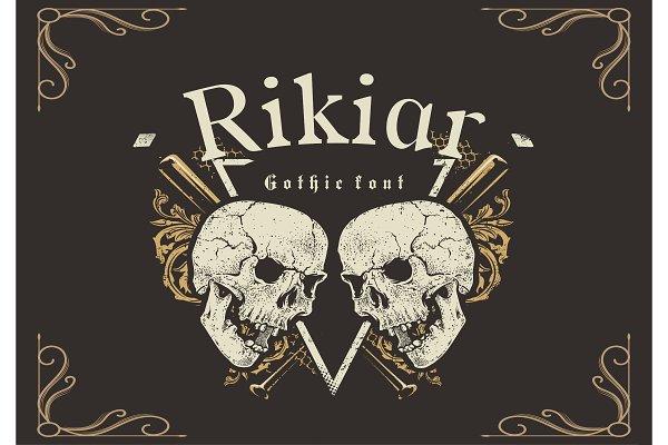 Rikiar Gothic Font