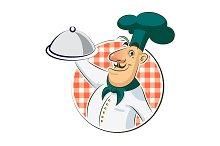 Cook restaurant. Vector illustration