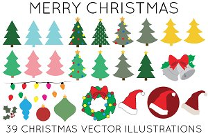 31 Christmas Vector Illustrations