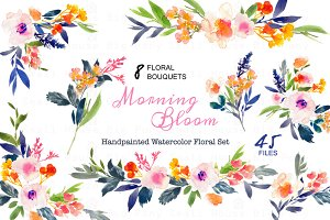 Morning Bloom-Watercolor Floral Set