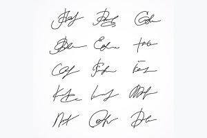 Signature Fictitious Autograph.