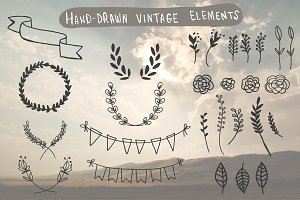 Hand-Drawn Vintage Elements
