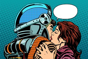 Star kiss the wife of an astronaut