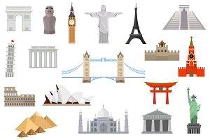 Famous landmarks worldwide
