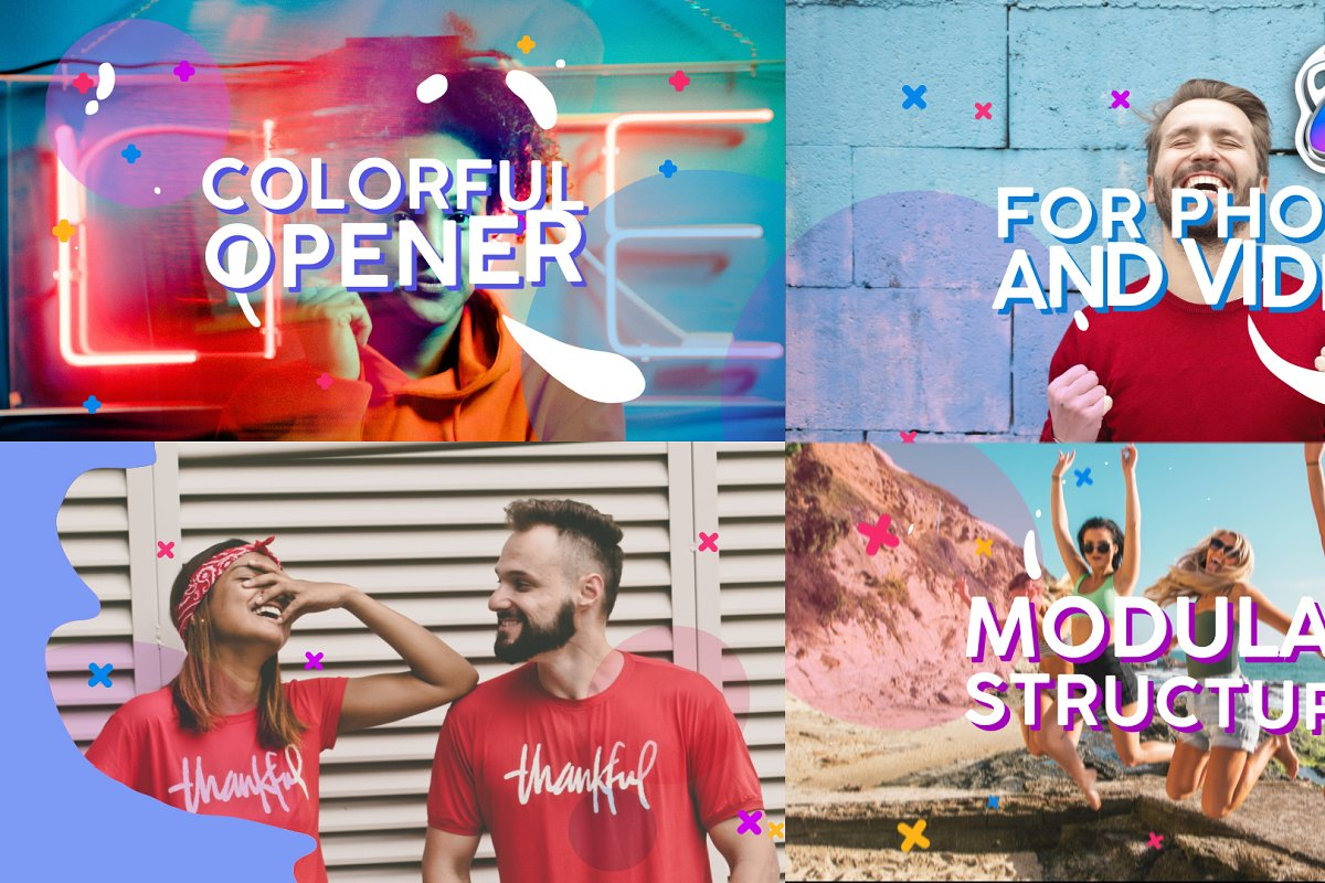 Colorful Opener   FCPX