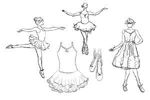 Ballerina and ballet tutu