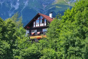 House in mountains