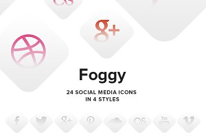 Foggy - social media icons