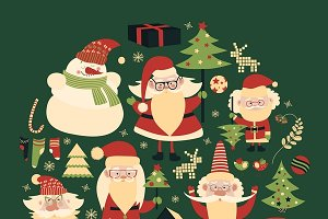 Vector collection of christmas items