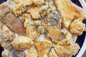 Fried porcini mushroom