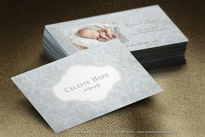 Airy Damask Shabby Business Card