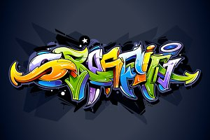 Vector Graffiti Lettering