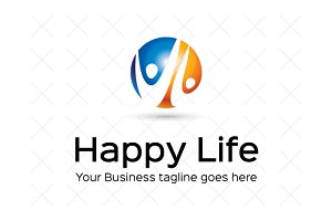Happy Life Logo Template