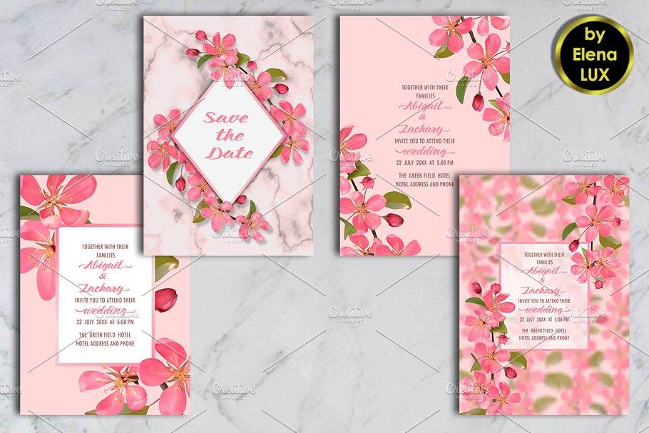 Cherry Blossom Templates Set