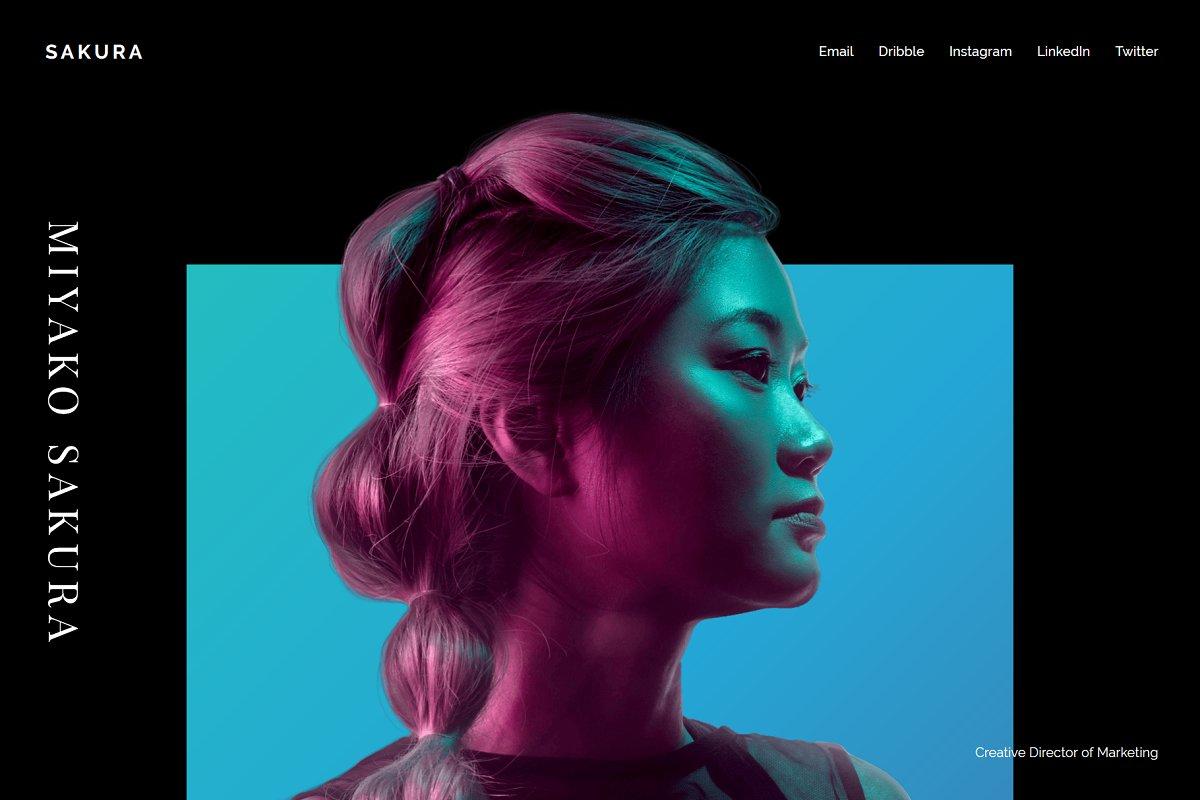 SAKURA - Minimal HTML CSS CV Resume