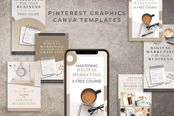 Pinterest Canva Templates | Mink