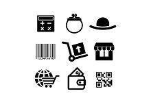 Shiopping icons set