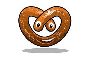 Fun happy curly pretzel