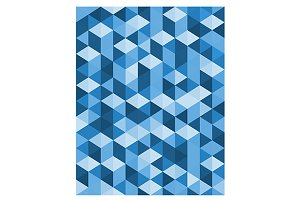 Abstract blue triangle background