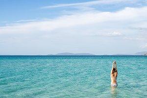 Mediterranean sea & beautiful woman