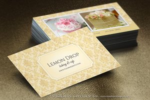 Vintage Damask Elegant Business Card